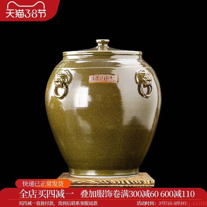 Merry jingdezhen ceramic barrel ricer box tea at the end of the cylinder tank sealed 50 kg 100 jins 20 jins, 200 jins cym