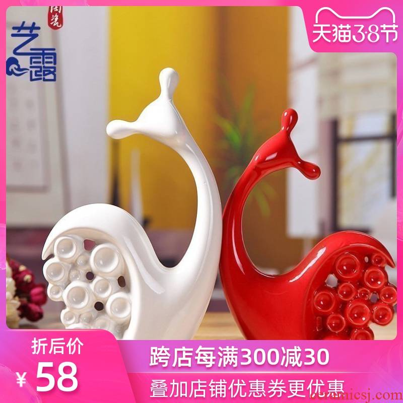 Art I and contracted household adornment furnishing articles sitting room wedding present office ceramic craft housewarming gift
