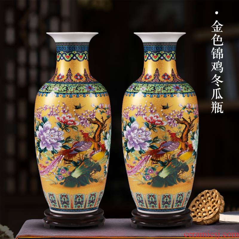 Jingdezhen ceramics of large vase large furnishing articles sitting room flower arranging porcelain Jane European - style decorative household items