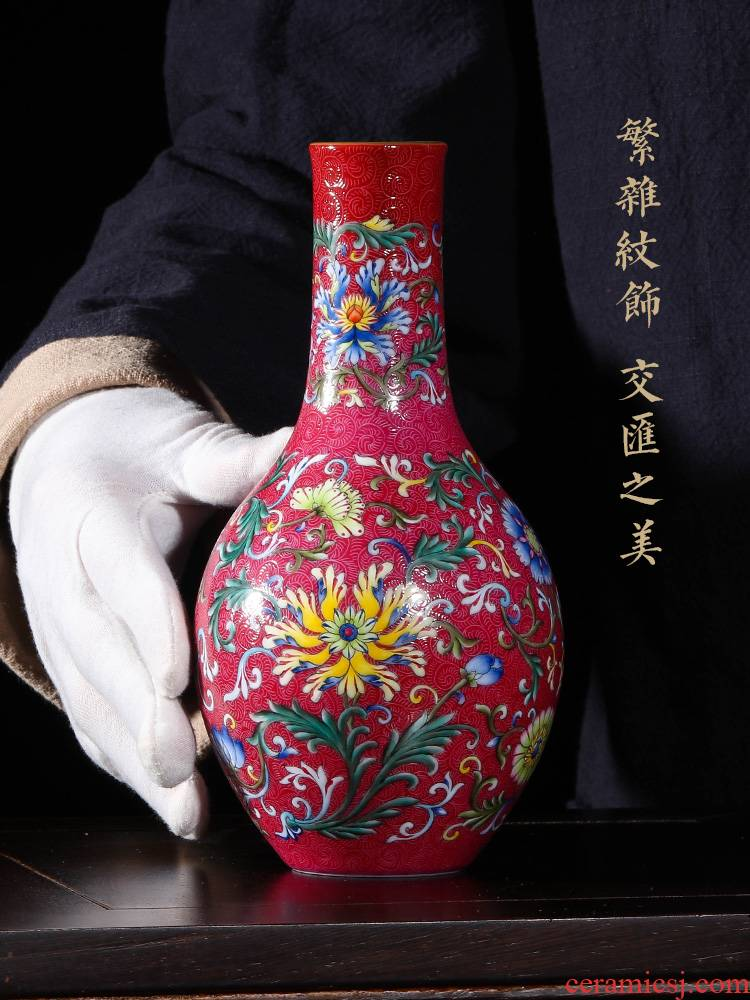 Jia lage jingdezhen ceramic vase YangShiQi ocean color and name the icing on the cake flower tattoos yuhuan gall bladder