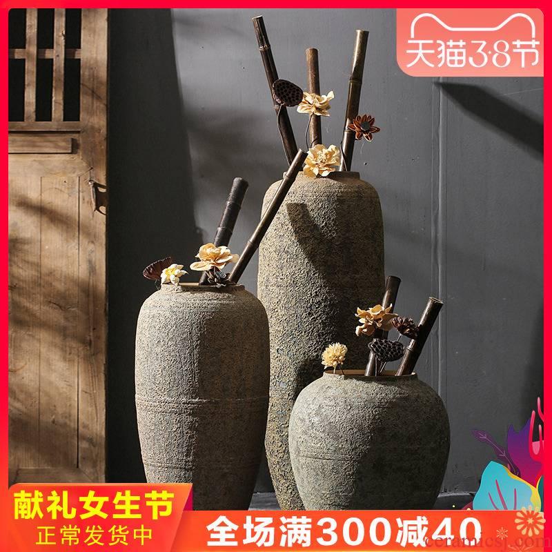 Sitting room ground simulation flower vases, decorative dried flowers restore ancient ways home furnishings jingdezhen nostalgic ceramics decoration furnishing articles