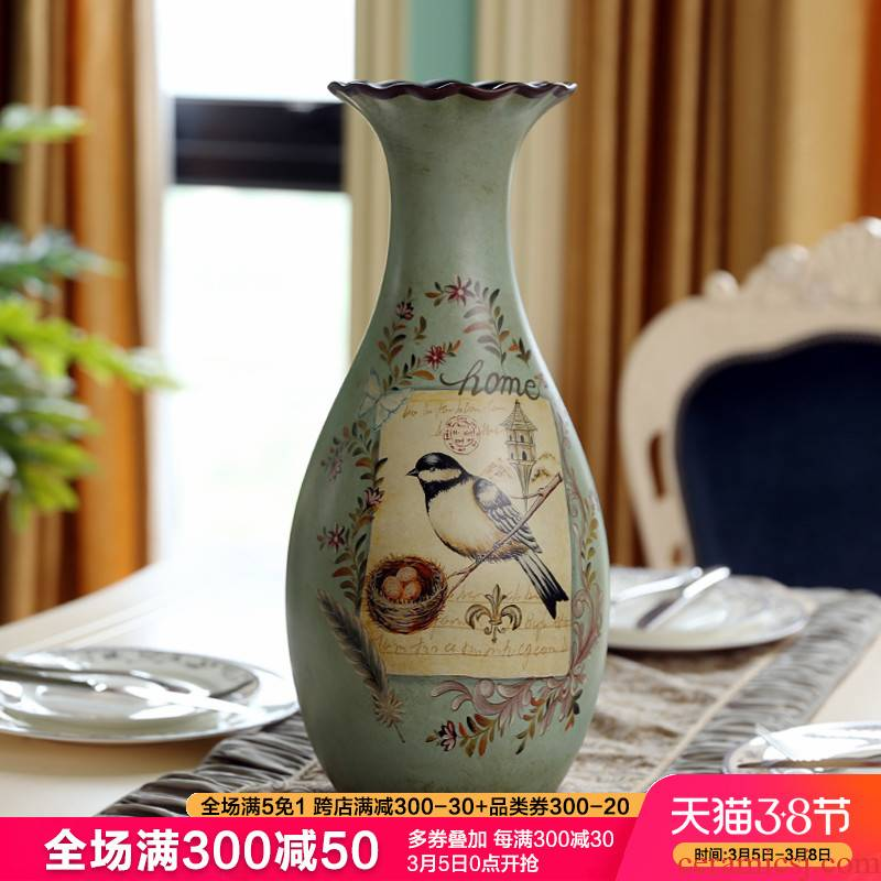 American ceramic furnishing articles sitting room of large vase vase Europe type restoring ancient ways of new Chinese style household adornment art