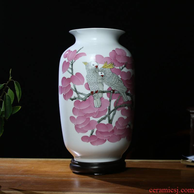 Under the liling glaze porcelain good remit cixin qiu - yun sitting room place decorative hand - made ceramic vase colorful ceramics and peaceful
