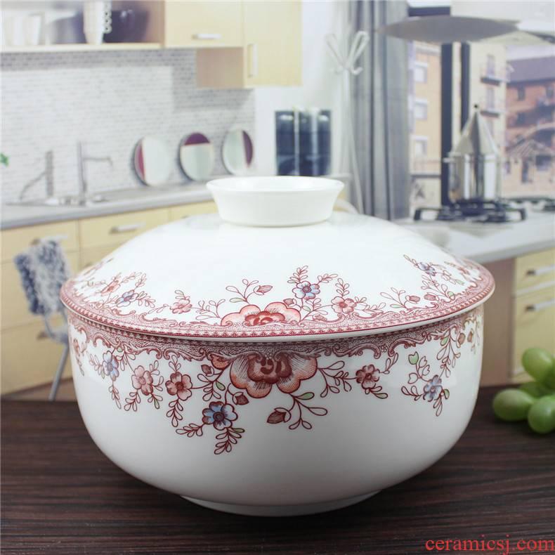"Minsheng ceramics romantic amorous feelings 8.25 ""product pot soup bowl tureen served soup bowl large soup bowl with lid a soup bowl"