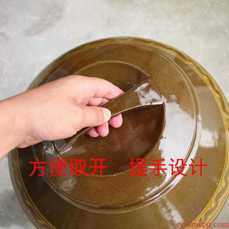 Sichuan lead - free ceramic jars 10 jins 20/50/100 jins remains an empty bottle seal for earthenware jars, jugs