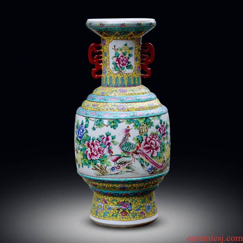 Jingdezhen ceramics flower vase restoring ancient ways large Chinese antique home decoration rich ancient frame furnishing articles sitting room