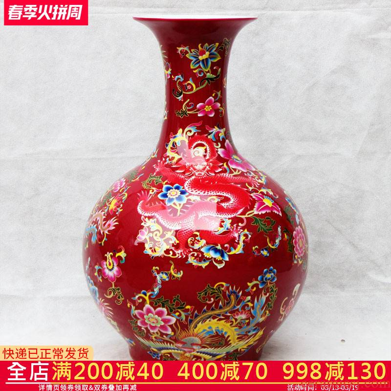 Aj37 jingdezhen ceramics vase furnishing articles in extremely good fortune sitting room tea table decoration of Chinese style household furnishing articles