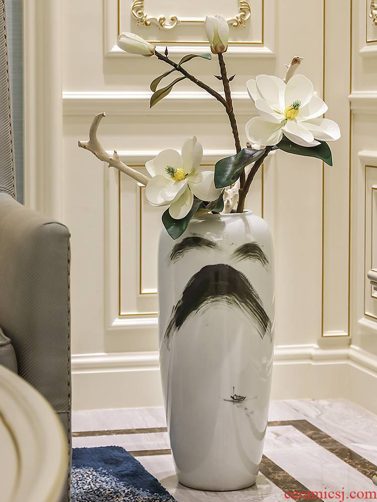 The New Chinese jingdezhen ceramic vase landing place, arranging flowers decorate the sitting room stores to dry flower simulation floral arrangements