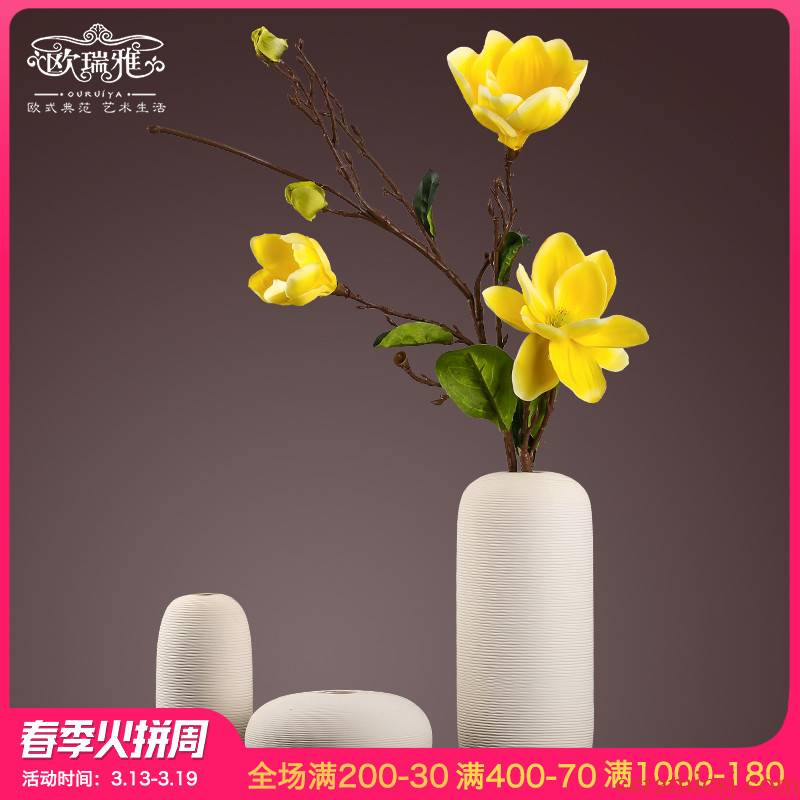 I and contracted sitting room table ceramic vase furnishing articles of new Chinese style household soft adornment flower arranging flowers is the living room
