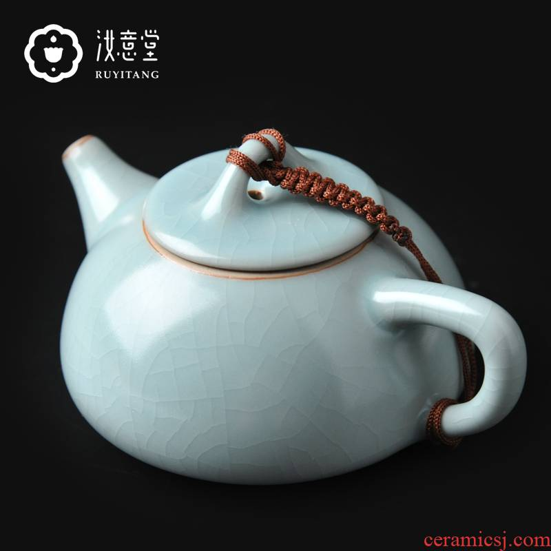 Archaize your up ceramic teapot kung fu tea set the teapot in use pot on pure manual stone gourd ladle pot household gift boxes