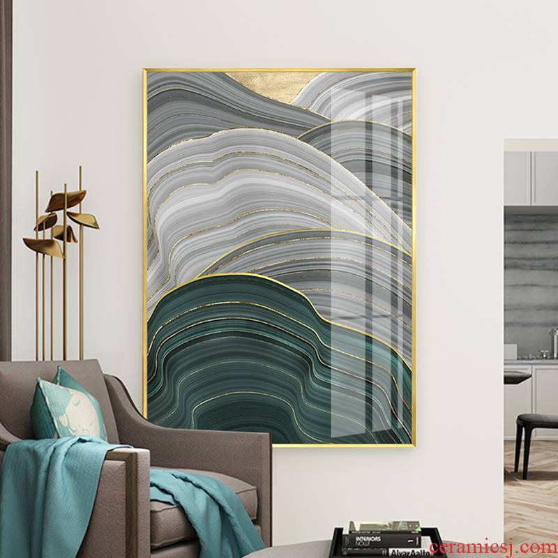 New Chinese style decoration painting abstract porch vertical section between hang a picture to key-2 luxury villa example hangs a picture in household porcelain painting