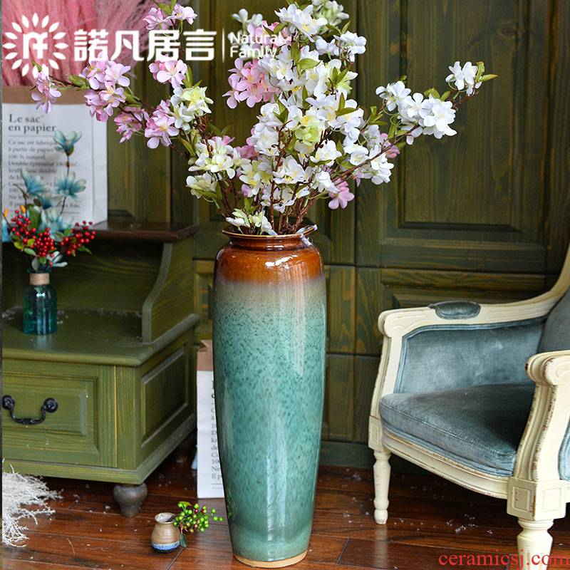 Jingdezhen ceramic vase vase sitting room porch place flower arrangement of Chinese style of large vases, sitting room hotel decoration
