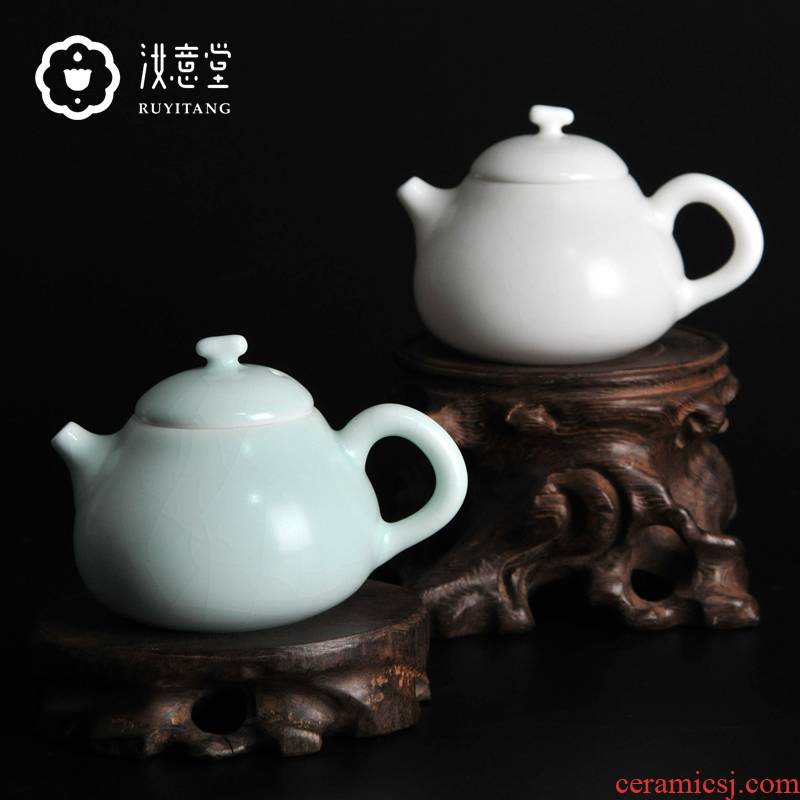 Your up kung fu ceramic teapot Your porcelain teapot single pot of small open piece of checking tea set for its ehrs pomelos pot of household