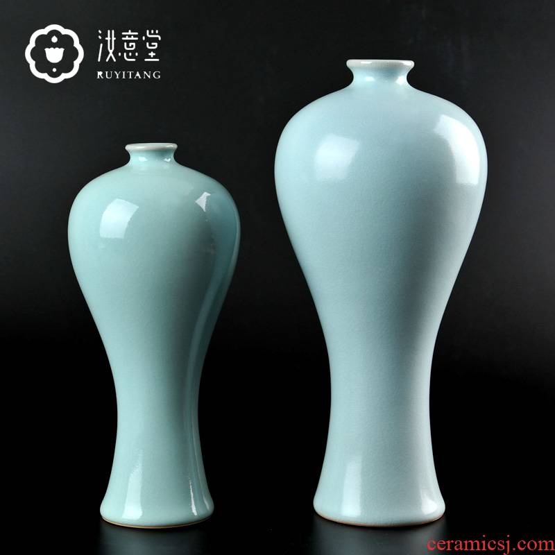 Archaize your up ceramic sitting room adornment porcelain vase furnishing articles contracted classic Chinese porcelain porcelain arts and crafts