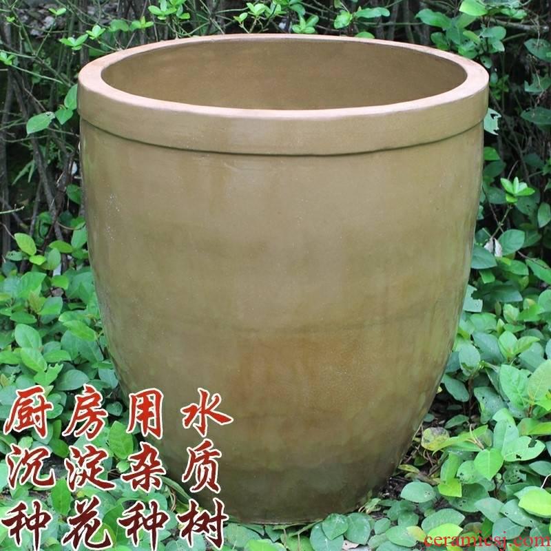 Lead - free water tanks with fish tank household ceramics courtyard old tank large storage tank lotus lotus cylinder