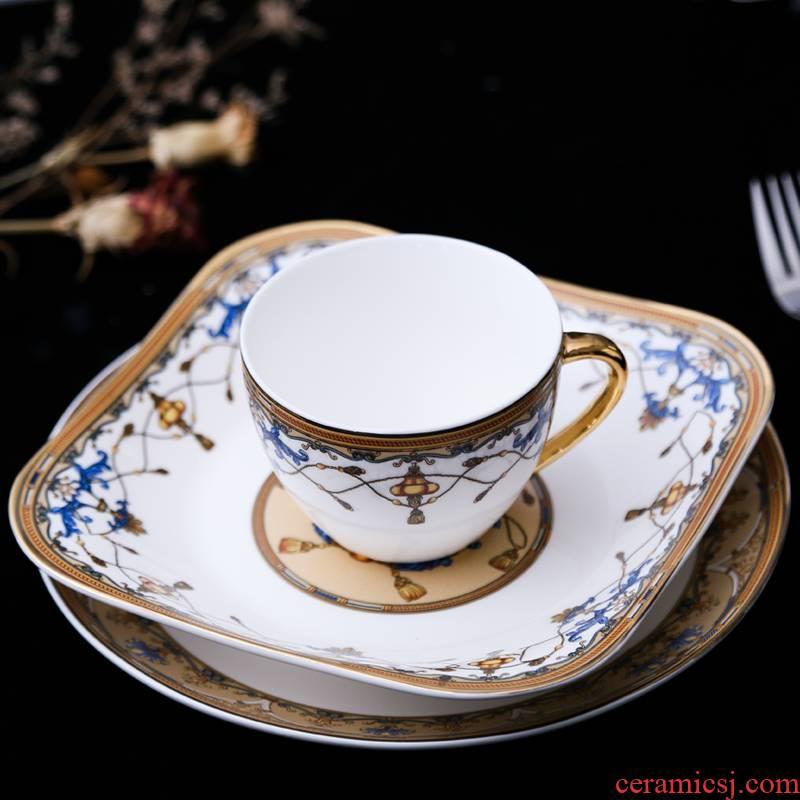 Fort SAN road continental food tableware steak three - piece suit household breakfast tray ceramic cup one eating utensils