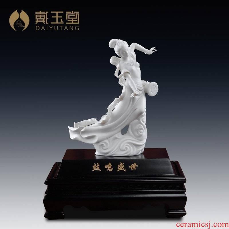 Yutang dai Su Xianzhong masters of dehua porcelain its art home furnishing articles/drum sound shengshi D30-61