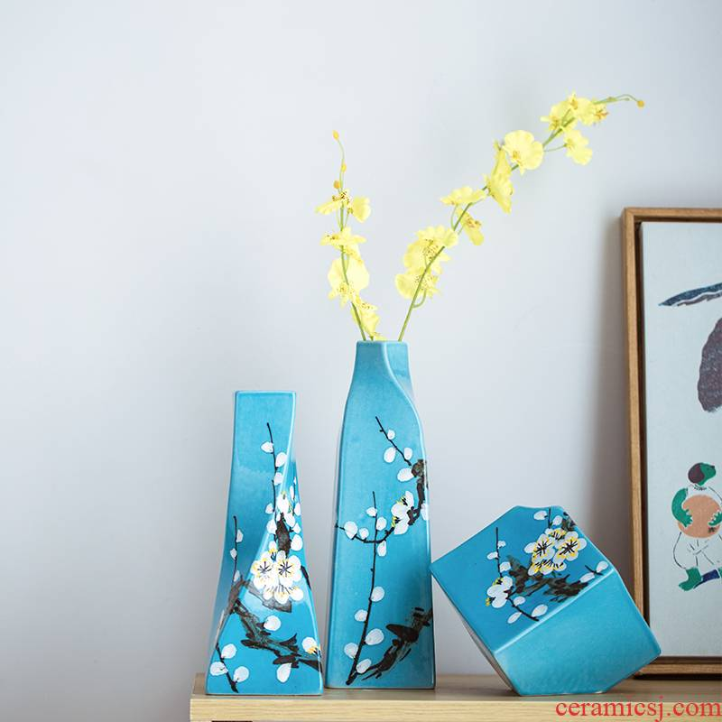 New Chinese style ceramic floret bottle dry flower vases, the sitting room porch flower arranging creative manual furnishing articles home decorations