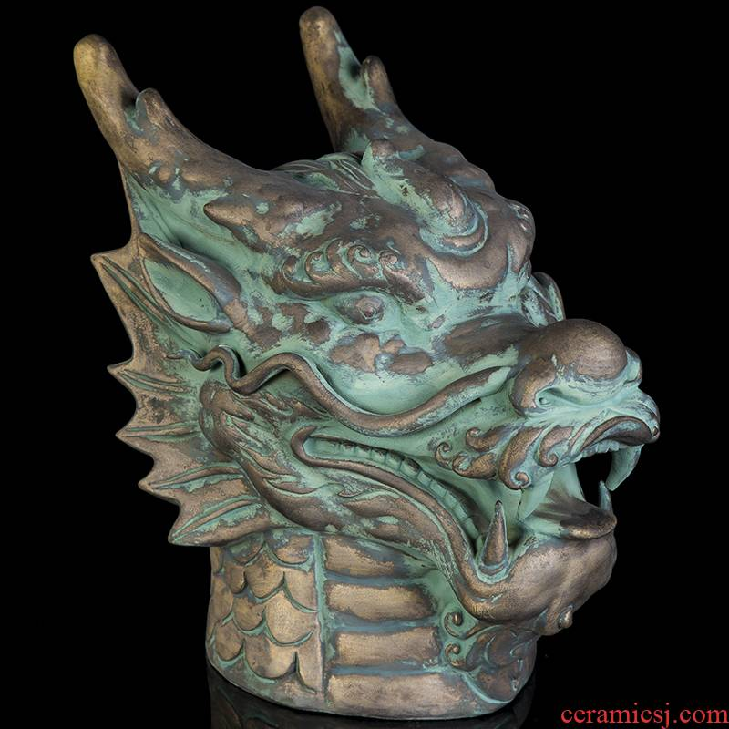 Bottle home furnishing articles 5 jins of jingdezhen ceramics with imitation bronze 12 zodiac hip mercifully wine jar