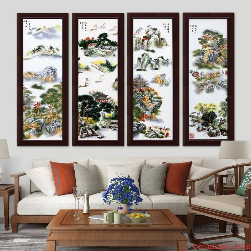 Jingdezhen hangs a picture of modern home sitting room adornment art of pastel porcelain plate painting porch corridor restaurant wall murals