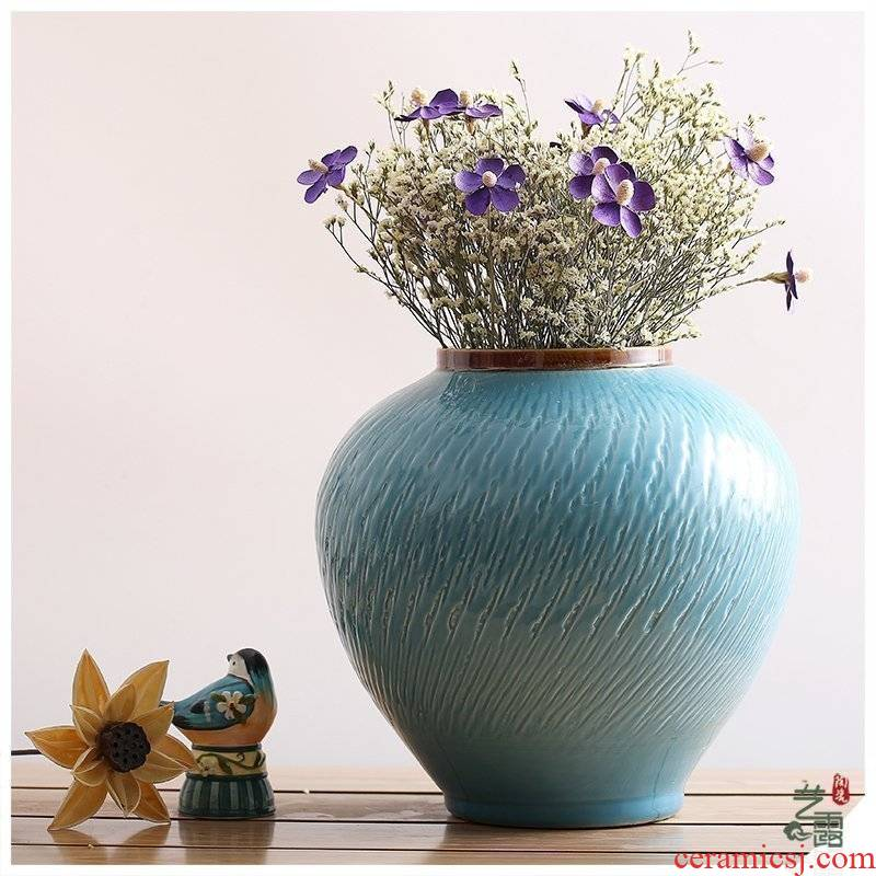 Nordic ins jingdezhen ceramic vases, dried flower, flower implement I and contracted sitting room place, home decoration