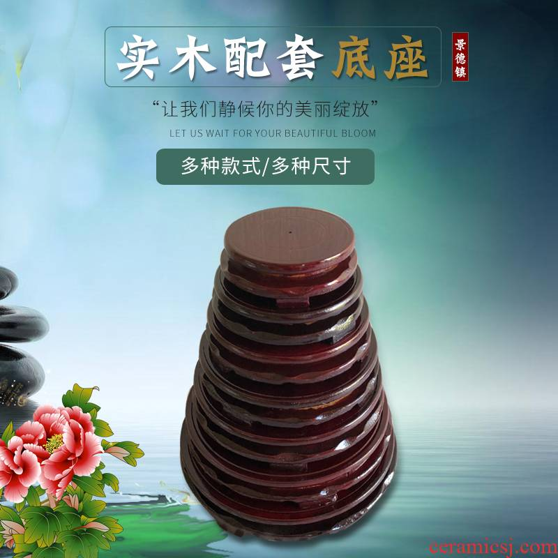 Circular classical vase flowerpot tap density board, rotating base high - density cut decorative vase