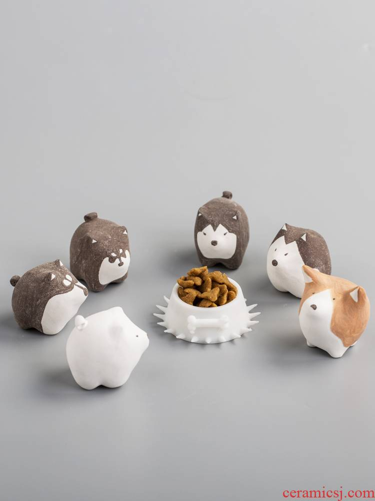 Dog ceramic small place ins wind creative express girl heart grocery store desktop birthday present male ornament