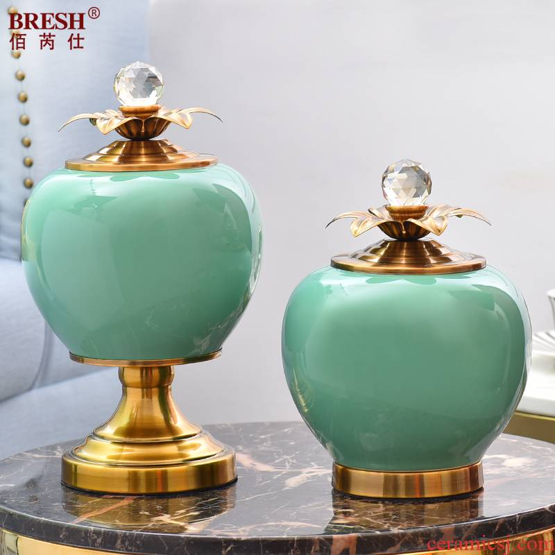 Now contracted sitting room table light key-2 luxury household soft adornment mesa of ceramic vase floral suit furnishing articles