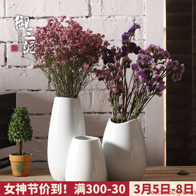 Nordic vase all over the sky star, white creative household ceramics small dry flower decoration simple flower arrangement sitting room adornment is placed