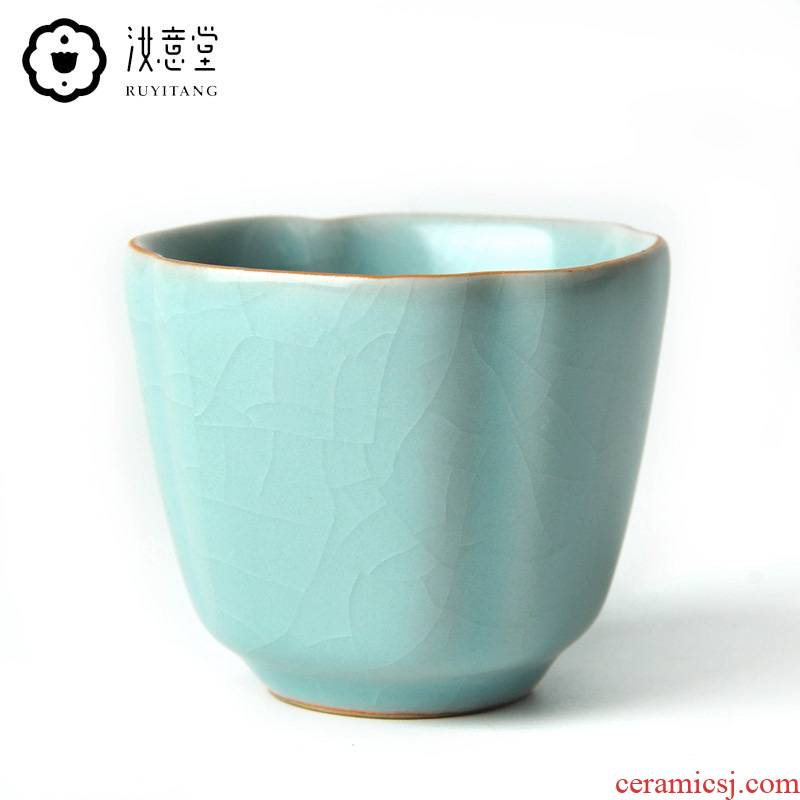 Archaize your up sample tea cup your porcelain cups master cup of ceramic tea cup kung fu tea set to open the slice single cup tea cup