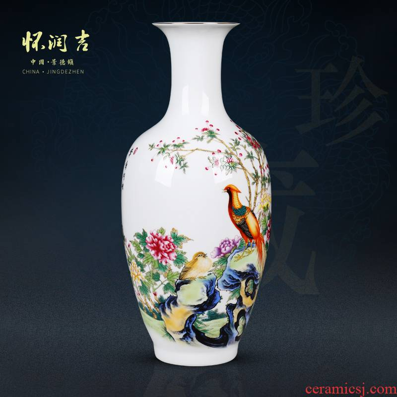 Jingdezhen ceramic vases, ultra - thin light and exquisite porcelain vase furnishing articles furnishing articles furnishing articles of modern Chinese style porch ambry