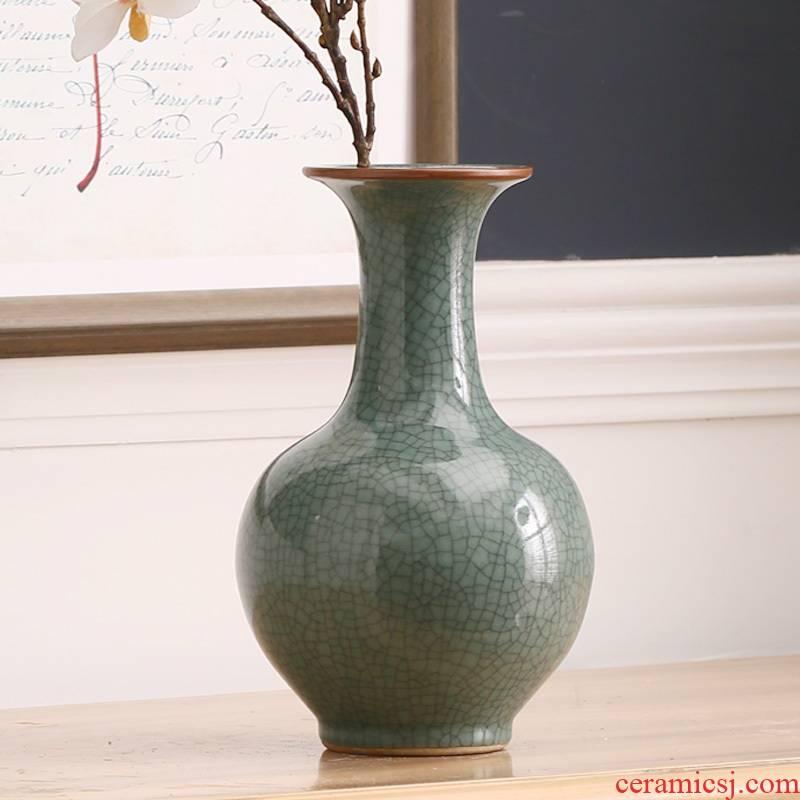Jingdezhen ceramics, antique vase up of broken porcelain crack glaze furnishing articles ikea gift ornament