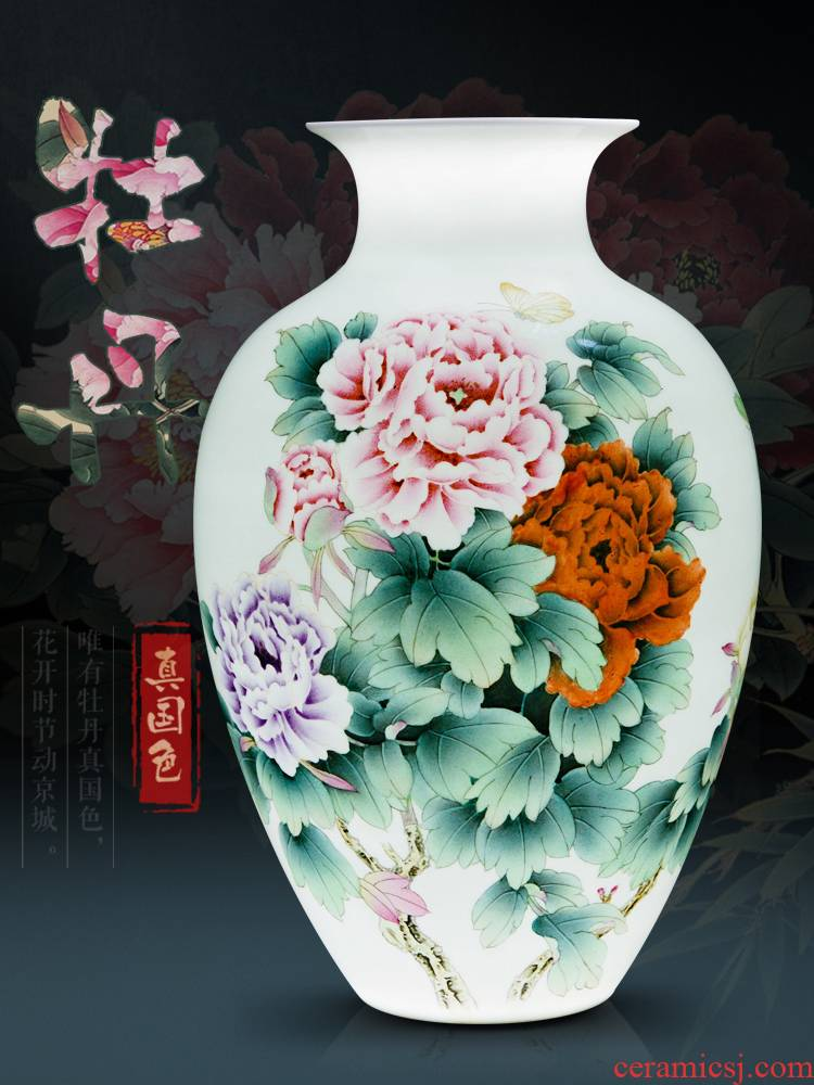 Jingdezhen ceramics hand - made ceramic vases, flower arranging new Chinese style living room, bedroom adornment handicraft furnishing articles of marriage