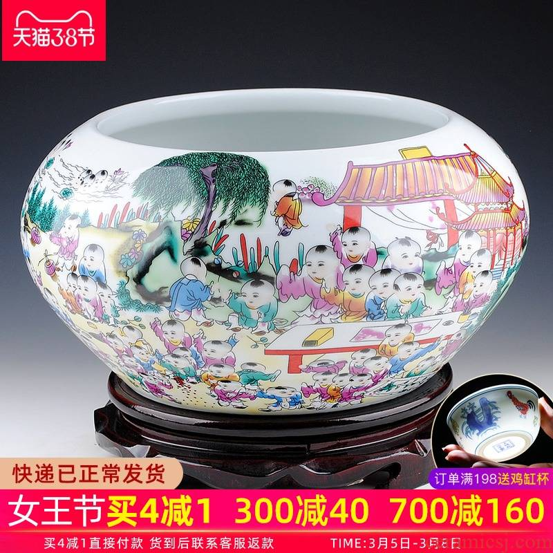 Hong xuan jingdezhen chinaware the ancient philosophers figure shallow goldfish turtle refers to basin creative home decoration in large tanks