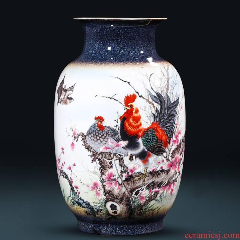 Jingdezhen ceramics up vases, flower arranging the new Chinese rich ancient frame wine sitting room adornment is placed gifts