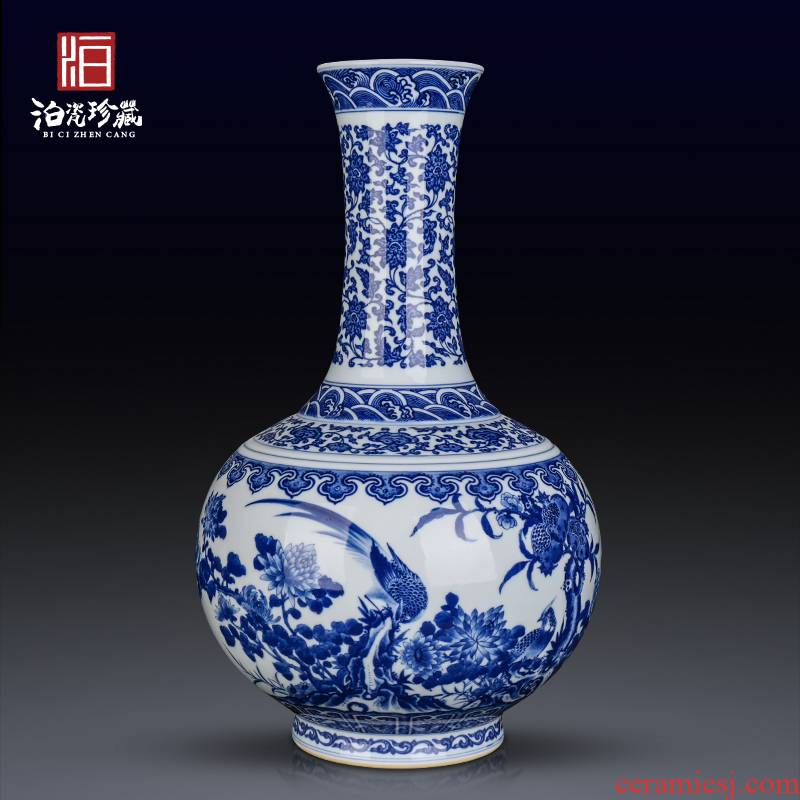Jingdezhen ceramics hand - made antique flower adornment bedroom a sitting room porch table flower arranging new Chinese style furnishing articles