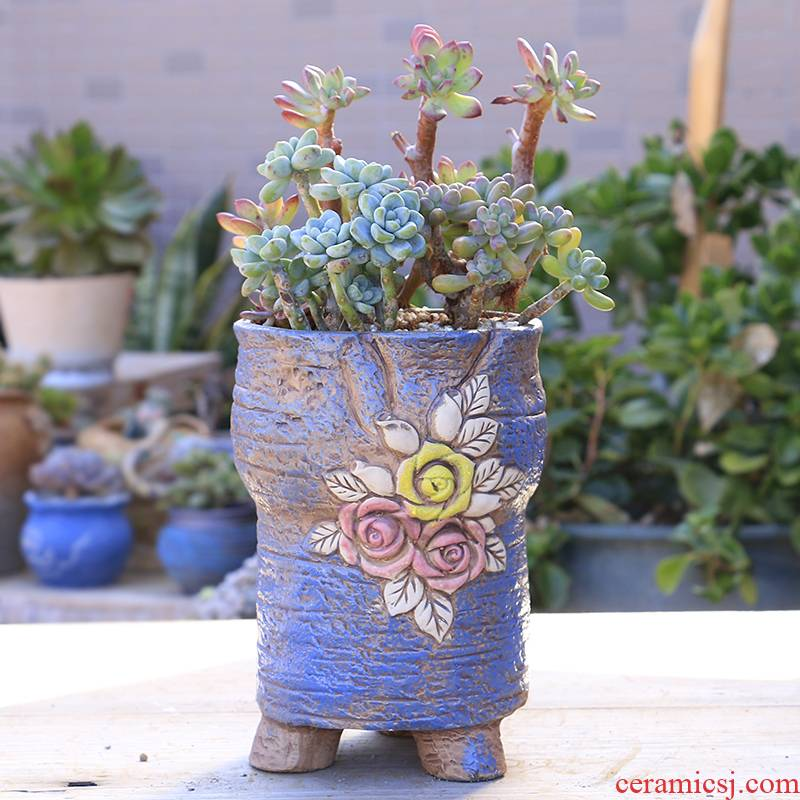 Fleshy gop running the flowerpot ceramic basin through pockets large special offer a clearance, Fleshy tao meaty plant mage flowerpot