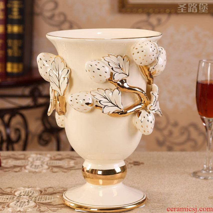 Fort SAN road craft vase European - style bedroom home decoration porcelain ceramic vase furnishing articles, the sitting room flower vase