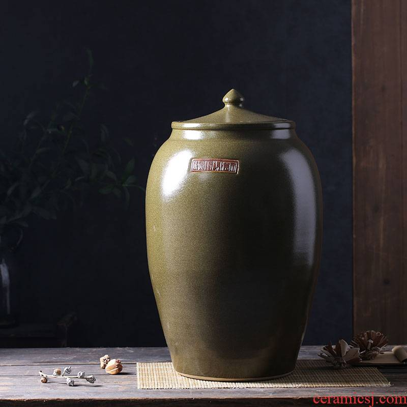 Period of ceramic barrel oil tank oil cylinder of jingdezhen ceramic jar jar jar 50 kg 100 jins