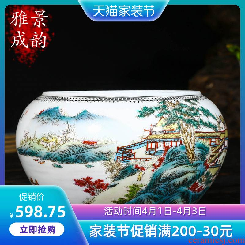 The Master of jingdezhen ceramics creative hand - made desktop furnishing articles sitting room feng shui desk writing brush washer from arts and crafts