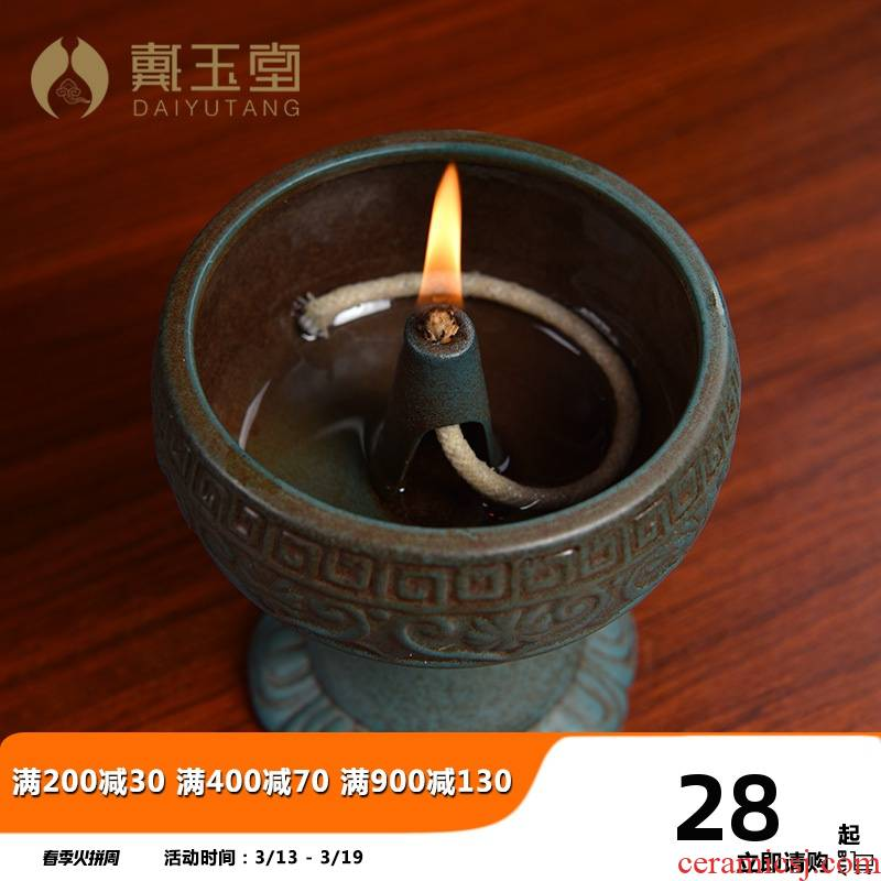 Yutang dai ceramic lamps for Buddha lamp Buddha GongDeng SuYouDeng ('m lamps before the lotus lamp based lamp holder of household Buddha