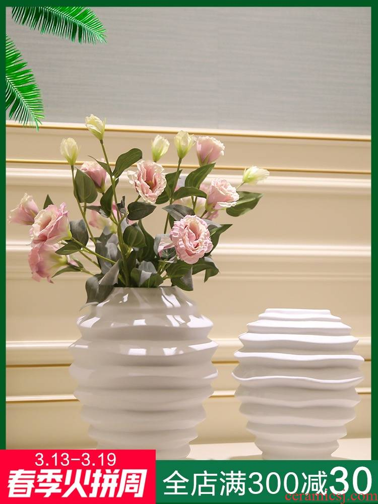 Jingdezhen ceramics vases, I and contracted sitting room porch dried flowers flower arrangement of Chinese style household decorations furnishing articles