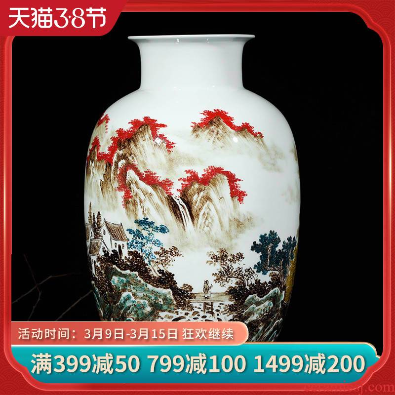Cixin qiu - yun, jingdezhen ceramics vase furnishing articles lrene jiangnan flower arrangement home sitting room study process act the role ofing is tasted