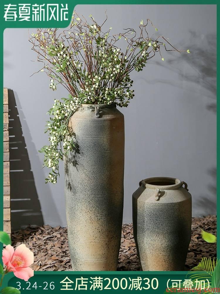 Jingdezhen ceramic restoring ancient ways of large vase decoration is a sitting room hotel villa furnishing articles flower arranging flower decorations
