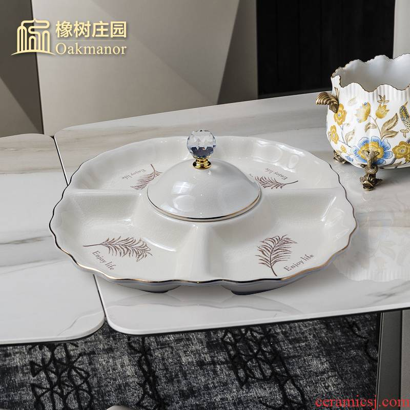 The Nordic idea ceramic frame compote furnishing articles home sitting room tea table of fruit dried fruit tray melon seeds candy dishes
