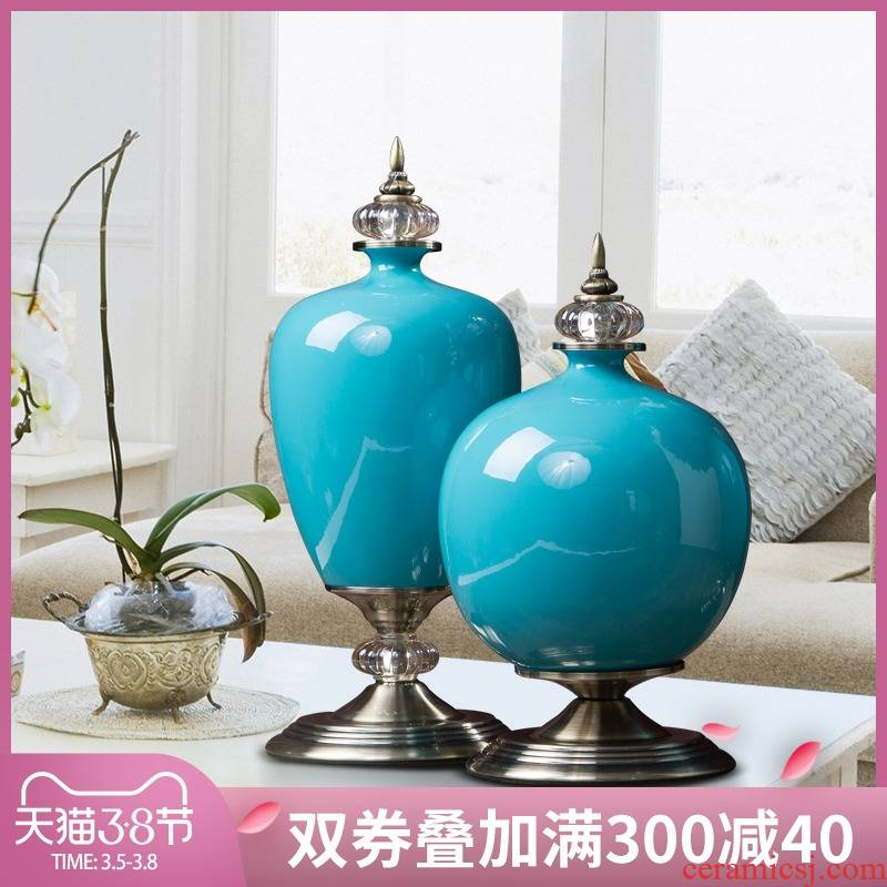 New classical home decoration ceramic handicraft furnishing articles I and contracted sitting room TV ark, example room decoration