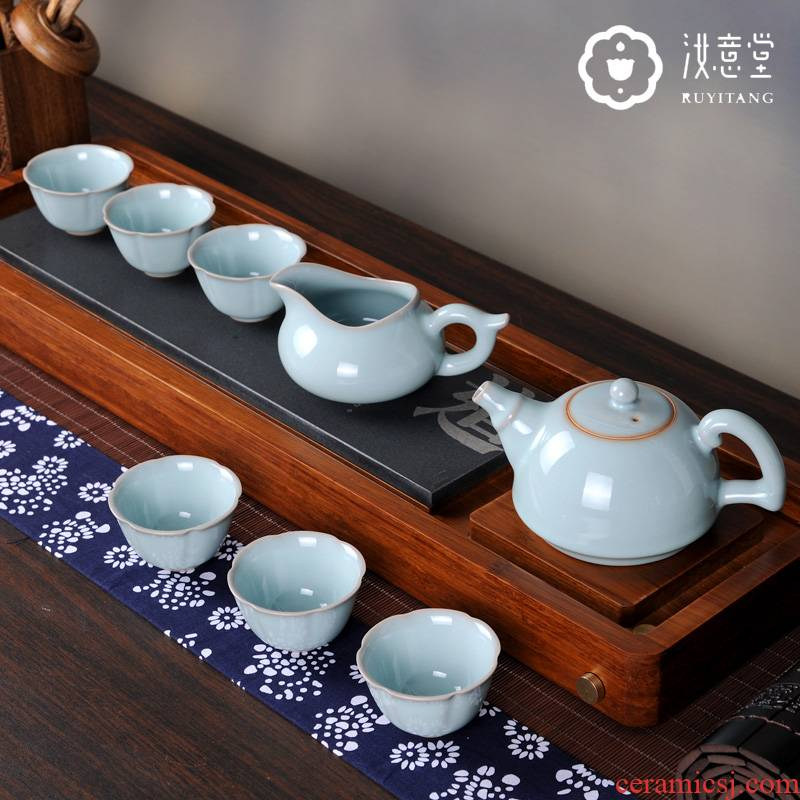 Your up kung fu tea set manually Your porcelain ceramic teapot teacup combination of Chinese style restoring ancient ways household tea tea