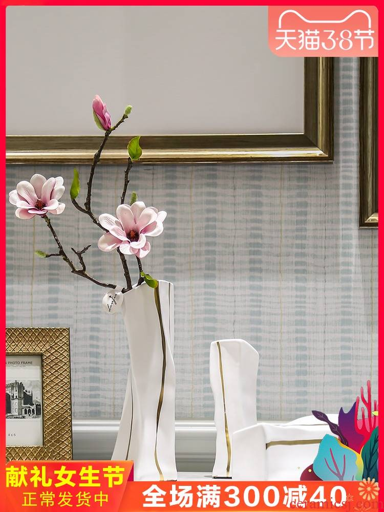 I and contracted ceramic flower vase continental creative living room table dry flower, Nordic home furnishing articles