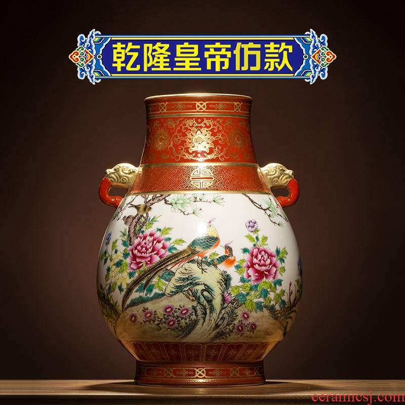 Better sealed up with jingdezhen ceramic big vase furnishing articles sitting room hand - made Chinese antique blue and white porcelain home decoration