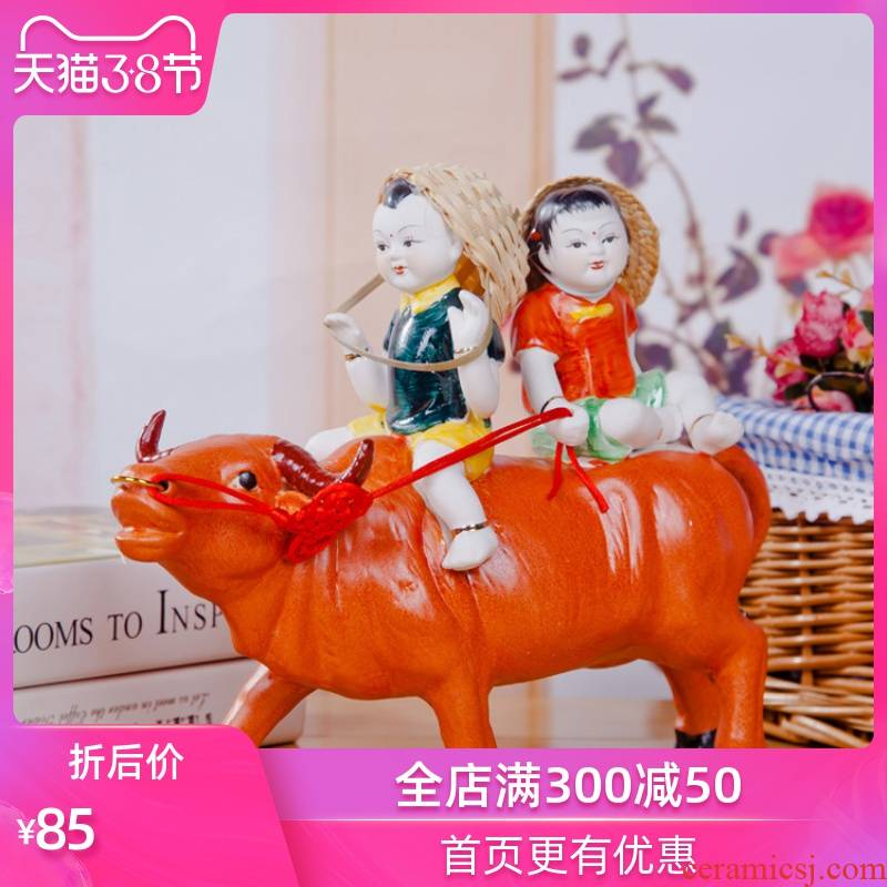 The Sequence of the strong ceramic crafts are rural household furnishings jingdezhen porcelain ornaments vestibular creative furnishing articles ceramic cattle